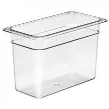 Cambro 38CW Food Pan - Camwear - Polycarbonate - Clear - 1/3 Size    Case Pack 6 |  | Zanduco CA