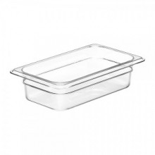 Cambro 42CW Food Pan - Camwear - Polycarbonate - Clear - 1/4 Size    Case Pack 6 | Smallwares | Zanduco US