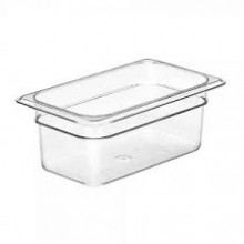Cambro 44CW Food Pan - Camwear - Polycarbonate - Clear - 1/4 Size    Case Pack 6 | Smallwares | Zanduco US