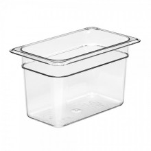 Cambro 46CW Food Pan - Camwear - Polycarbonate - Clear - 1/4 Size    Case Pack 6 |  | Zanduco CA