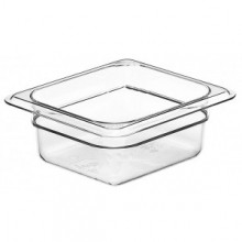 Cambro 62CW Food Pan - Camwear - Polycarbonate - Clear - 1/6 Size    Case Pack 6 |  | Zanduco CA