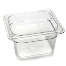 Cambro 64CW Food Pan - Camwear - Polycarbonate - Clear - 1/6 Size    Case Pack 6 | Smallwares | Zanduco US