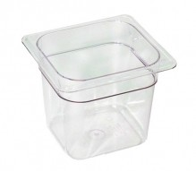 Cambro 66CW Food Pan - Camwear - Polycarbonate - Clear - 1/6 Size    Case Pack 6 |  | Zanduco CA
