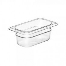 Cambro 92CW Food Pan - Camwear - Polycarbonate - Clear - 1/9 Size    Case Pack 6 | Smallwares | Zanduco US