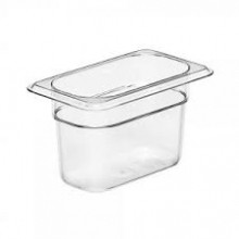 Cambro 94CW Food Pan - Camwear - Polycarbonate - Clear - 1/9 Size    Case Pack 6 | Smallwares | Zanduco US