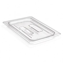 Cambro 40CWCH Food Pan Lid - Camwear - Polycarbonate - Clear - with Handle    Case Pack 6 |  | Zanduco CA
