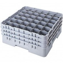 "Cambro 36 CompartmentGlass Washing Camrack, Full Size - 5-1/4"" 36S434 Case Pack 4 