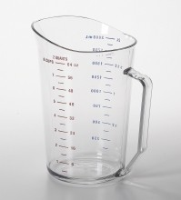 2 Qt Cambro Measuring Cup Clear 200MCCW  |  | Zanduco CA