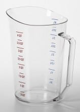 4 Qt Cambro Measuring Cup Clear 400MCCW  |  | Zanduco CA