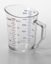 1 Pt Cambro  Measuring Cup Clear 50MCCW  |  | Zanduco CA