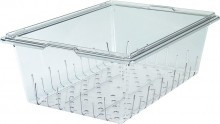 Cambro 18268CLRCW Food Storage Colander Square-Camwear, Poly Clear Case Pack 4 |  | Zanduco CA