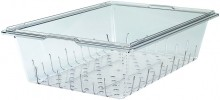 Cambro 1826CLRCW Food Storage Colander- Square - Camwear -- Poly - Clear    Case Pack 6 |  | Zanduco CA