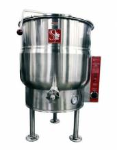 SteamCan EL-30 30 gal Electric Tri-Leg Stationary Steam Kettle - 220V | Kitchen Equipment | Zanduco US