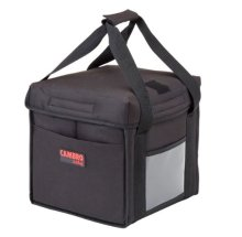 "Cambro GoBag GBD101011110 Black Insulated Food Delivery Bag, Small Folding - 10"" x 10"" x 11"" 