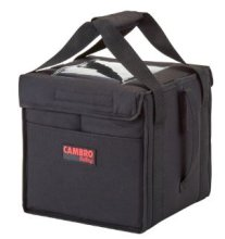 "Cambro GoBag GBD121515110 Black Insulated Food Delivery Bag, Medium Folding - 12"" x 15"" x 15"" 