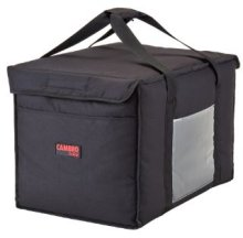 "Cambro GoBag GBD211414110 Black Insulated Food Delivery Bag, Large - 21"" x 14"" x 14"" 