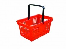 Red Plastic Shopping Basket | Material Handling & Storage | Zanduco CA