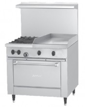 "Garland Sunfire™ X Series 36"" Gas Restaurant Range with 24"" Griddle, 2 Burners and 26"" Oven 