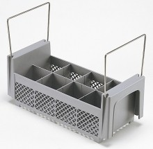 Cambro 8FB434  8 Compartment Half Flatware Basket with Handles    Case Pack 6 | Sinks & Dish Room | Zanduco US