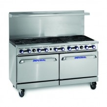 "Imperial IR-10   10 Open Burners - (2) 26.5"" Wide Standard Ovens  IR-10 