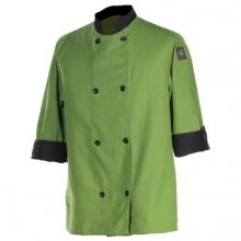 Crew Fresh Jacket, Mint/BK Trim, 3/4 Sleeve, PC-Blend  J134MT | Smallwares | Zanduco US