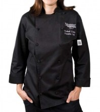 Cuisinier Ladies Jacket, Black, Chef-Tex Breeze  LJ025BK | Smallwares | Zanduco US