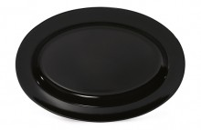 "Milano™ 18"" x 13"" Oval Platter, 1.75"" Deep, 6 / case  ML-15-BK 