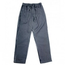 E-Z Fit Pants, White/Black Pin Stripe, Cotton  P040WS |  | Zanduco US