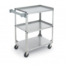 Stainless Steel Utility Cart  400 lb Capacity  97125 | Material Handling Transport & Storage | Zanduco CA
