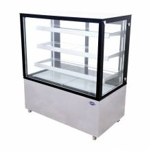 "Zanduco 48"" Square Glass Floor Refrigerated Display Case 