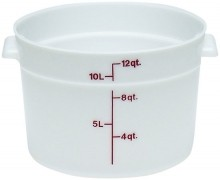 Cambro 12 Qt Food Storage Container - Round- Camwear -- Poly - White -  RFS12   Case Pack 6 |  | Zanduco CA