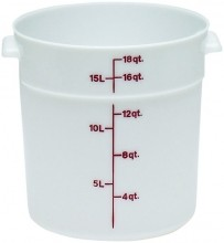Cambro 18 Qt Food Storage Container - Round- Camwear -- Poly - White -  RFS18   Case Pack 6 |  | Zanduco CA