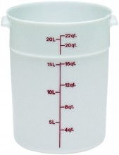 Cambro 22 Qt Food Storage Container - Round- Camwear -- Poly - White -  RFS22   Case Pack 6 |  | Zanduco CA