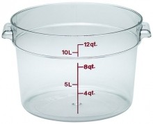 Cambro 12 Qt Food Storage Container - Round - Camwear - Polycarbonate - Clear -  RFSCW12   Case Pack 6 |  | Zanduco CA