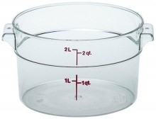 Cambro 2 Qt Food Storage Container - Round - Camwear - Polycarbonate - Clear -  RFSCW2   Case Pack 12 |  | Zanduco CA