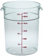 Cambro 22 Qt Food Storage Container - Round - Camwear - Polycarbonate - Clear -  RFSCW22   Case Pack 6 |  | Zanduco CA