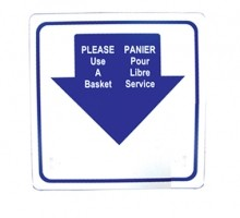 Shopping Basket Sign, English/French | Material Handling & Storage | Zanduco CA