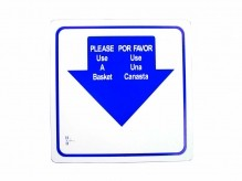 Shopping Basket Sign, English/Spanish | Material Handling & Storage | Zanduco CA