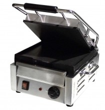"1800-Watt Single Panini Grill with Flat Top and Bottom - 10"" x 11"" 