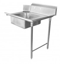 "Zanduco 36"" Right Side Soiled Dish Table with Sink 