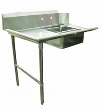 "Zanduco 48"" Left Side Soiled Dish Table with Sink 