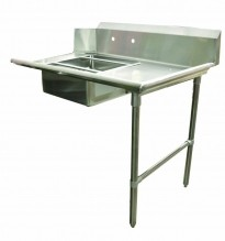 "Zanduco 48"" Right Side Soiled Dish Table with Sink 