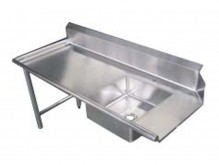 "Zanduco 60"" Left Side Soiled Dish Table with Sink 