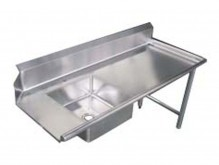 "Zanduco 60"" Right Side Soiled Dish Table with Sink 