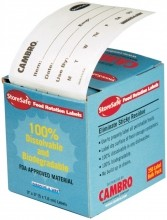 Cambro Food Rotation Labels, Bulk Dispenser Pack 24 Rolls/case 23SLB250 |  | Zanduco CA
