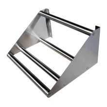 "36"" Wall Mounted Stainless Steel Tubular Rack Shelf  15"" X 36"" X 11.25"" 