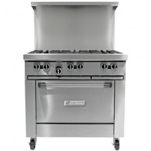"Garland U36-6R U Series 36"" Gas Restaurant Range with 6 Burners and 26"" Oven 