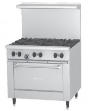 "Garland X36-6R Sunfire™ X Series 36"" Restaurant Range with 6 Burners and 26"" Oven 