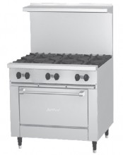 "Garland X36-6S Sunfire™ X Series 36"" Gas Restaurant Range with 6 Burners and Storage Space 