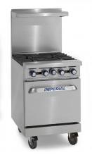 "Imperial IR-4   4 Open Burners - (1) 20"" Wide Oven   IR-4 